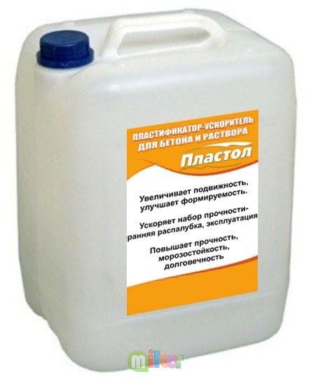 Пластификатор ускоритель для бетона и раствора - 10 л