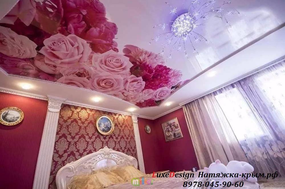 Художественные натяжные потолки-УФ фотопечать