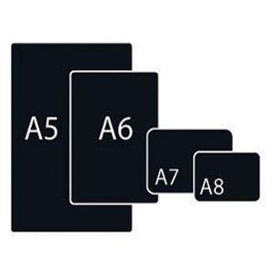 Черная табличка А6, толщина 0, 5 мм, матовая с закруглёнными углами
