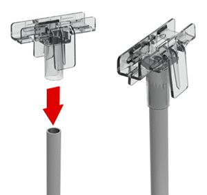Трубка D=9 мм, L=300 мм с Т-держателем (55 мм)