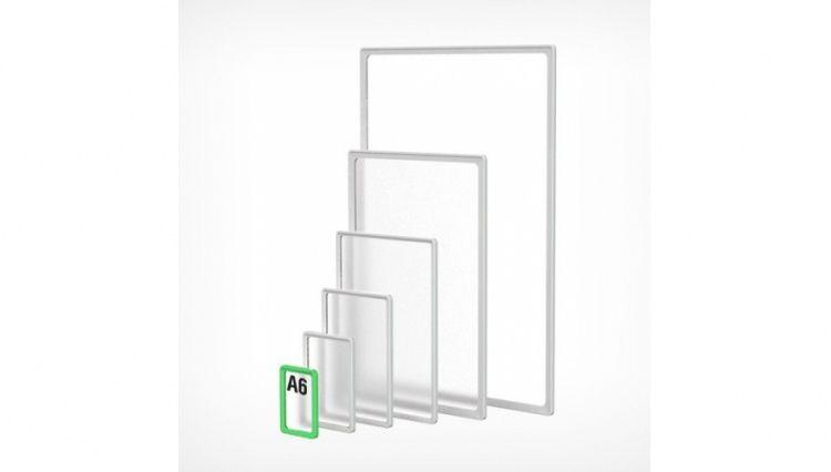 Рамка пластиковая А6, зеленая