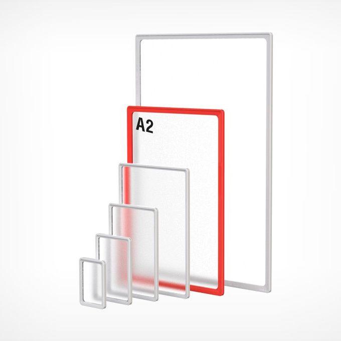 Рамка пластиковая А2, красная