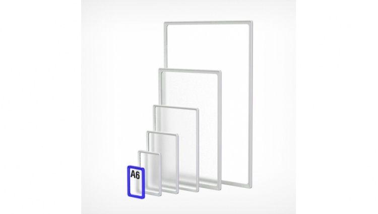 Рамка пластиковая А6, синяя