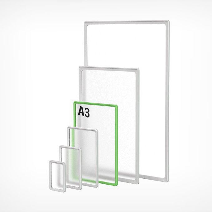 Рамка пластиковая А3, зеленая