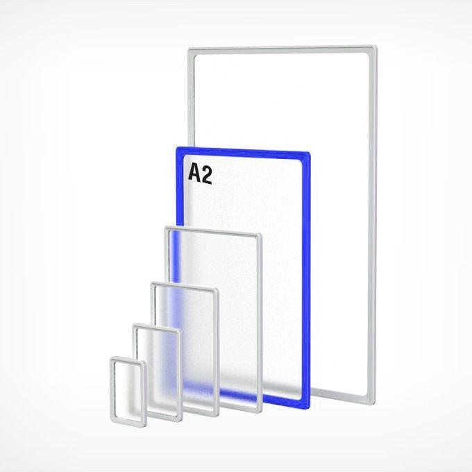 Рамка пластиковая А2, синяя