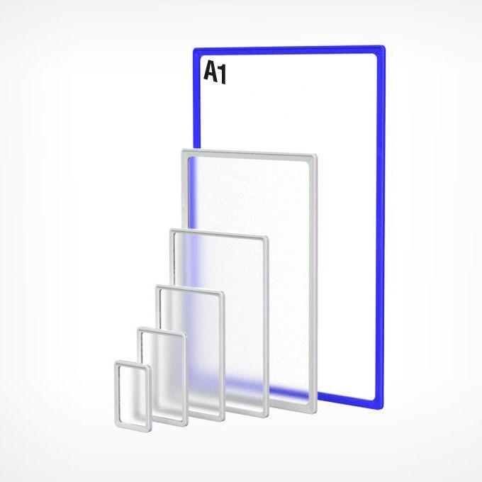 Рамка пластиковая А1, синяя