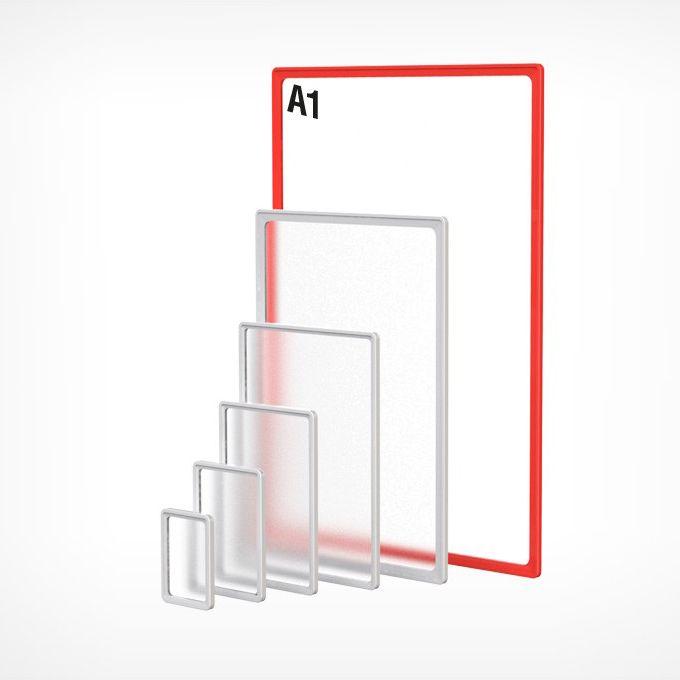 Рамка пластиковая А1, красная