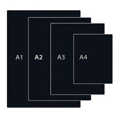 Черная табличка А2, толщина 0, 5 мм, матовая